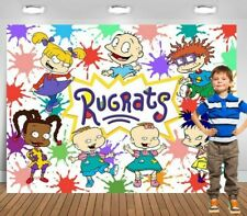 7x5ft Watercolor Colorful  Rugrats-kids Backdrop baby shower party background