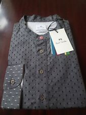Paul Smith *PS* Grey * Casual ** Mens Shirt ** BRAND NEW ** 100% Cotton Size XXL
