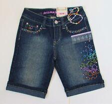 Girls Arizona Bermuda Denim Bling Shorts  Sz 8 Slim NWT Bling