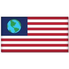 Futurama Earth Flag Ol Freebie vinyl decal sticker