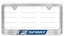 (1) F SPORT CHROME LICENSE PLATE FRAME