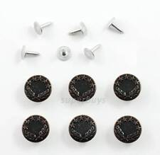 6pc Full Bronze 17mm Jeans Jacket Denim Buttons Hammer Press Repair Replacement