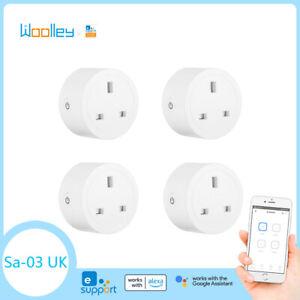 4PCS UK Smart Plug Power Socket Switch WIFI ZigBee APP Control for Amazon Google