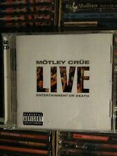 MOTLEY CRUE / Live Entertainment Or Death  2 CD Set Brand New Sealed 1999