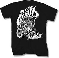 Mens Biker T Shirt XL Motorcycle Metal Gothic Harley Reaper Skull