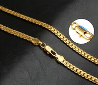 "18k Yellow Gold Men's Women's Wide Link Chain 20"" Inch Necklace wGiftPkg D517R"