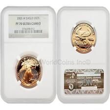 USA 2005W Eagle $25 1/2 oz Gold Coin NGC PF70 ULTRA CAMEO