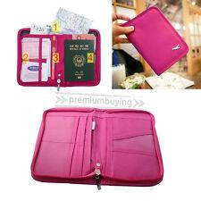 Travel Bag Passport Holder Cover case Tickets ID card Wallet Purse Organiser