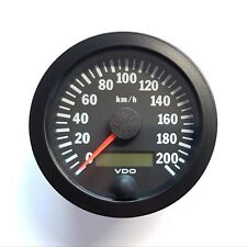 VDO Tachometer Tacho 80mm bis 200 Km/h
