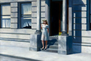 """Edward Hopper Summertime Giclee Canvas 20""""x 30"""" Print Paintings Poster"""