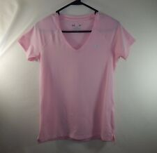 Under Armor Heat Gear Athletic Fitness WOMENS Clothing Pink Shirt Size SMALL S
