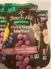 Beech-Nut Baby Food Fruit and Veggie Melties™- Banana, Blueberry Green Beans - 4