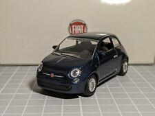 Fiat 500 2007 Blue 1/43 NOREV Dealer Model Rare