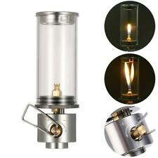 Mini Hiking Camping Lantern Gas Light Tent Lamp Torch Hanging Glass Lamp