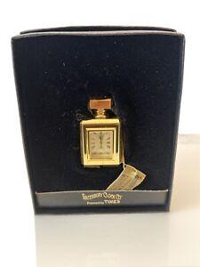 NEW WATERBURY CLOCK CO. Mini Perfume TIMEX CLOCK Collectible In Box Great Gift!