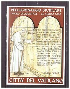 S37451 Dealer Stock Vatican MNH 2001 Popes Travels S/S (X10)