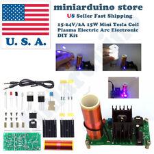 15-24V/2A 15W Mini Tesla Coil Plasma Electric Arc Electronic DIY Kit Music Play