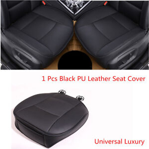 Black Universal 1 Pcs PU Leather Luxury Car Front Seat Cover Protector Cushion