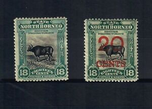 NORTH BORNEO Scott # 147 and 148, BOTH MINT / VF / LH!! SCV $127.00