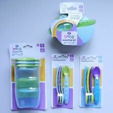 BOOTS BABY Weaning/Feeding Spoons, Weaning Set, Snack Pots, 4 months+, BPA Free