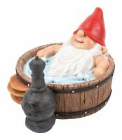 Gnaughty Gnome Naughty Sat in Hot Tub Ornament Gift - Garden - Funny Humour NEW