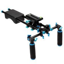 Camera Camcorder DSLR Stabilizer Shoulder Mount Support Rig Dual Handgrip.