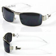 Dg Eyewear Hombre Rectangular Cuadrado Envoltura Gafas de Sol Diseño Moderno