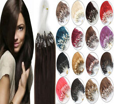 Indian Micro Beads Loop Ring Remy Human Hair Extensions16/26Inch 0.5g/s 1g/s100S