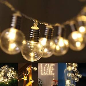 10M 80Pcs String Lights Bulbs Festoon Wedding Party Fairy Outdoor/Indoor Patio