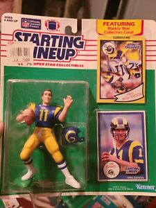 Jim Everett 1990 Starting lineup Slu figures St Louis/LA Rams NEW w/error card