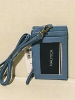 Brand New Nautica Name Tag Wallet Baby Blue