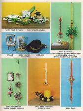 Casserole Server & Plant Hanger Patterns in Macrame Gifts & Goodies Book PD1122