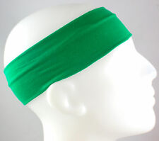 "NEW! 2"" Super Soft Green Kelly Hair Band Head Sports Sweat Headband Stretch"