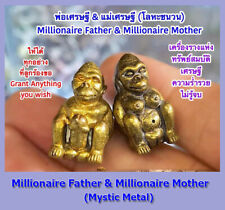 Thai Amulet Charming Millionaire Father & Millionaire Mother By Phra Arjarn O