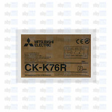 "Mitsubishi CK-K76R(HG) NEW 6"" Paper & Ribbon Kit  for CP-K60DW-S Photo Printer"