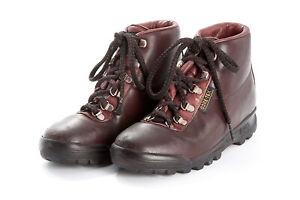 Vintage Womens VASQUE Boots Sz 6.5 M in SKYWALK Gore-Tex Hiking Mahogany Brown