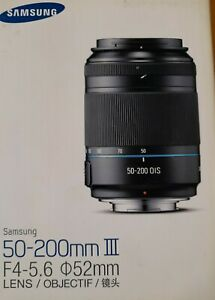 SAMSUNG 50-200mm III F4-5.6 52mm Lens Black Brand New Unsealed