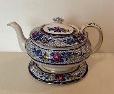 Vintage Decorative Burleigh Ware Teapot & Stand