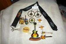 12pc Hard Rock Cafe Pin Button and Collectible Lot Niagara Falls Backstage +MORE