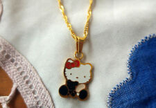 Collier /& Boucle d/'oreille MICRO-Inlay Zircone cubique Argent Sterling 925 Hello Kitty Cat Kitten Set