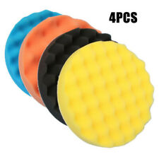 4x 180mm Car Waxing Buffing Polishing Sponge Pads Polisher Buffer Tool Accessory