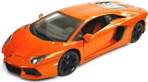 LAMBORGHINI AVENTADOR LP700-4 model road car Orange 1:18th BURAGO 11033O