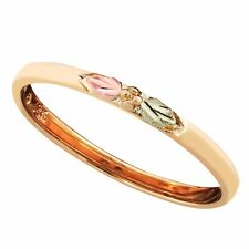 Landstrom's® Black Hills Gold Stackable Rings, White Yellow Green Rose Gold - S1