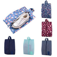 BL_ Portable Travel Waterproof Shoes Storage Bag Case Tote Pouch Zip Organizer F