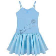 Kids Girls Gymnastics Leotard Ballet Dress Sequined Tutu Skirt Dancewear Costume