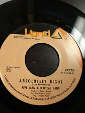 45 Record 5 Man Electrical Band Butterfly/Absolutely Right VG