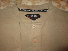 "FUBU ""THE COLLECTION"" TAN SHIRT WITH LOGOS SIZE L"