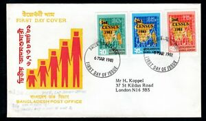 Bangladesh - 1981 2nd Census Overprints First Day Cover