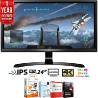 "LG 24UD58-B 24"" 16:9 4K UHD FreeSync IPS Monitor + Extended Warranty Pack"