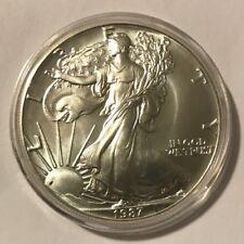 1987 Silver American Eagle 1oz BU $1 Nice Early Date Gorgeous Strike